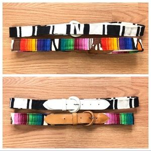 Two VINTAGE Guatemalan Textile Belts Bundle